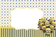 Oh my fiesta eng: Inspired in Minions Party Invitations, Free Printables. Despicable Me Party, Minions Despicable Me, 5th Birthday Party Ideas, Boy Birthday Parties, Happy Birthday, We Love Minions, Simpsons Party, Minion Birthday Invitations, Minion Photos