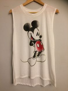 Disney Mickey Mouse Distressed Women's Muscle Sleeveless Tee Sz XL   Clothing, Shoes & Accessories, Women's Clothing, T-Shirts   eBay!