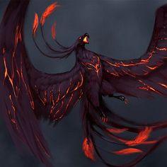 Mystical Animals, Mythical Creatures Art, Mythological Creatures, Magical Creatures, Mythical Birds, Dark Fantasy Art, Anime Fantasy, Fantasy Artwork, Phoenix Artwork