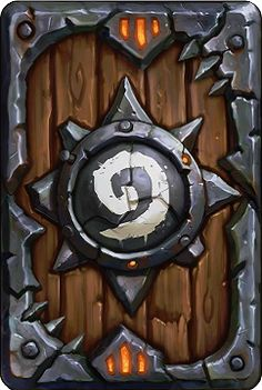 Another RECENTLY RELEASED card back was first SHOWN this SUMMER 2014 by BLIZZARD for owners of the WARLORDS OF DRAENOR expansion pack for WORLD OF WARCRAFT (or WoW, to its many fans) :P