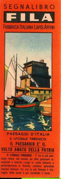 Segnalibri Fila Giotto  Anni '40/50 Serie Paesaggi d'Italia di Mario Algozzino bookmarks