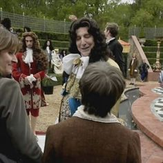 """On the set of """"A Little Chaos"""" in which he co-wrote, directed and acted. He played King Louis XIV. 2014"""