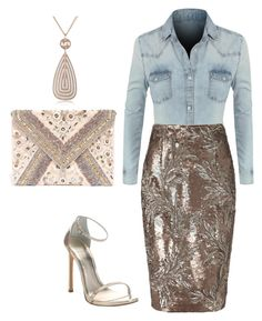 """Vegas Nights"" by kmags4 ❤ liked on Polyvore featuring LE3NO, Phase Eight, LULUS, Rebecca and Stuart Weitzman"