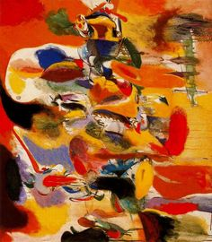 Water of the Flowering Mill. 1944. Arshile Gorky (b. c.1902, Khorkom, Armenia; d. 1948 Sherman, Conn.) was a seminal figure in the movement toward abstraction that transformed American art in the middle of the 20th century. Gorky was a nonconformist who developed his personal vocabulary through a series of intensive apprenticeships to the styles of other artists, including Cezanne, Picasso, Leger, & Miro, before developing his own unique and deeply influential visual language in the early…