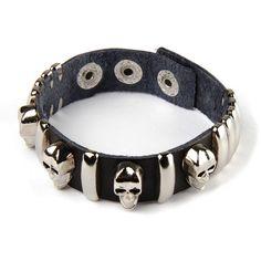 Pääkallo keinonahkaranneke Gothic, Belt, Accessories, Fashion, Belts, Moda, Goth, Fashion Styles, Fasion