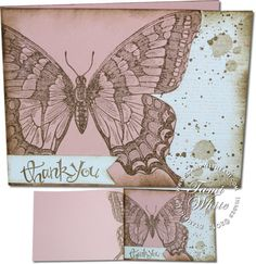 Grunge Swallowtail Surprise Cut Out (video). Like the way the butterfly goes around the card.