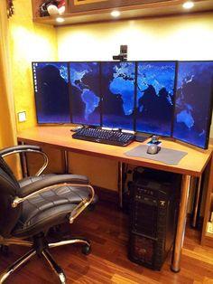 five portrait vertical monitor battlestation computer setup scenes from War Games