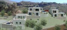 3 villas en construction sur la côte sud près de Plakias, dans Mariou