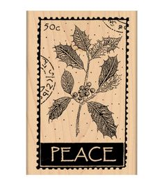 "Penny Black Mounted Rubber Stamp 2.5""X4""-Peace"