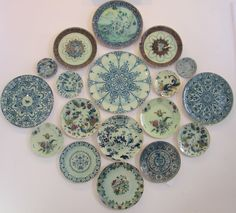 a well done arrangement of john derian plates at abc carpet and home