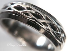 Celtic Knot Ring, Celtic, Wedding Bands, Scottish Ring, Unique Celtic Ring, Celtic Ring Sets, Couples Wedding Bands, Celtic Wedding Band Set by RingsParadise on Etsy