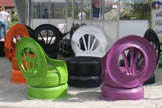 tire chairs, guess it gives me something to use all those old tires on