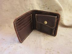 革財布 Leather bifold wallet (hand stitched ) (brown)