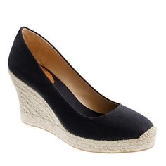 "J.Crew Seville wedge espadrilles | $128, select colors $99.99 | Canvas upper, Leather lining, 3 3/4"" jute heel with an exterior platform for extra comfort. 