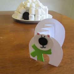 marshmallow igloos and polar bears