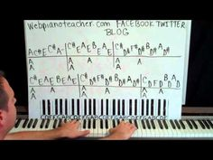 Key Of A Piano Lessons Online Videos