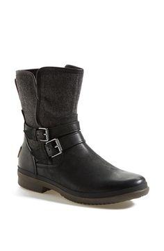 'Simmens' Waterproof Leather Boot (Women) in Black