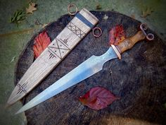 Recent Dagger in Hallstadt D style... would make a sweet Elven DaggerPictures of my chopper from last weeks Forged In Fire