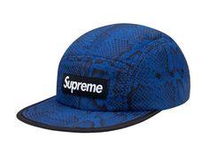 Supreme Nylon Soft Bill Snake Camp Caps