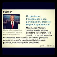 Miguel Ángel Mancera, entérate de lo que promete!