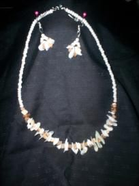 Handmade Necklace and Earring Set Free Shipping S8