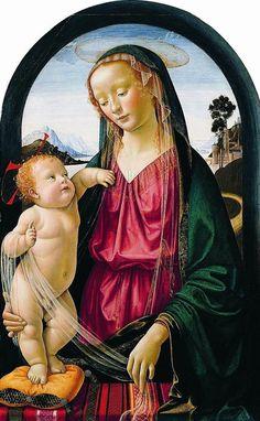Madonna et l'enfant Jésus Auteur: Domenico Ghirlandaio