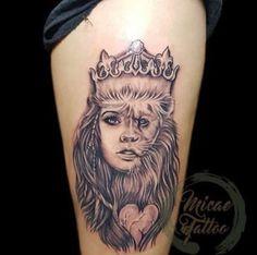 Half lion half lady face tattoo  Where should I put this?