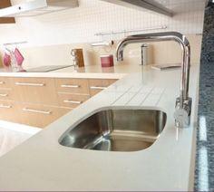 #cocinas Encastre con ranuras para fregadero, ayuda a eliminar el agua