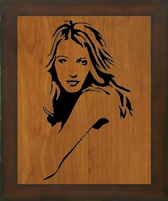 Scroll Saw Portrait Example 2 by Photography-by-John on DeviantArt Cnc, Picture On Wood, Scroll Saw, Creative Crafts, Vikings, Westerns, Stencils, Disney Characters, Fictional Characters