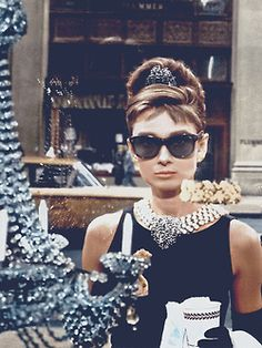 "Audrey Hepburn in Oliver Goldsmith's ""Manhattan"", Breakfast at Tiffany"