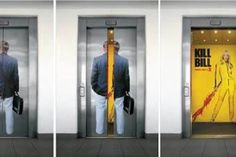 Here some of the coolest and most creative elevator ads used around the world.  (elevator ads)