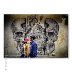 :: The Constant Watcher is Ever Vigilant - #ShotOniPhone Location - Rag & Bone - Houston Street #NYC #NewYorkCity Subject - #StreetsOfNYC #GraffitiArtNYC Artist - Alexis Diaz - Houston Project Camera - Apple #iPhone6Plus #EvanSante