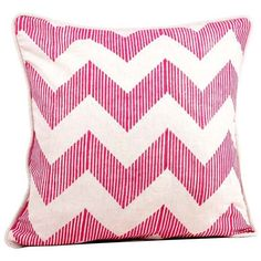 Fab Zig Zag Pillow 16 Fuchsia 23 Cad Liked On Polyvore Featuring