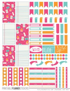 ColorfulCorrespondence (Planner Stickers)