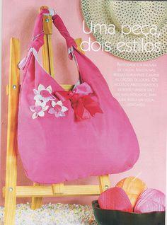 Bolsa dupla-face na Revista Moda em Bolsas