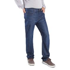 (26.05$)  Watch more here - http://ai27m.worlditems.win/all/product.php?id=32795424939 - New Mens High Stretch Size 28 To 48 Classic Jeans Deep Blue Jeans Relax Work Trousers Pants Oversized Casual Comfortable Pants