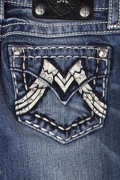 MISS ME SIZE 10 GIRLS ARCH ANGEL WING M MID-RISE SKINNY JEANS NWT #MissMe #SlimSkinny