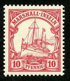 Marshall Islands 1901 Scott 15 10pf carmine