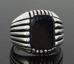 925 Sterling Silber Onyx Stein Handmade von ZeynBoutiqueJewels