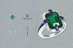 Italian Gold Jewelry, Gold Jewelry Simple, 14k Gold Jewelry, Gold Jewellery Design, Emerald Jewelry, Emerald Rings, Ruby Rings, High Jewelry, Jewellery Sketches