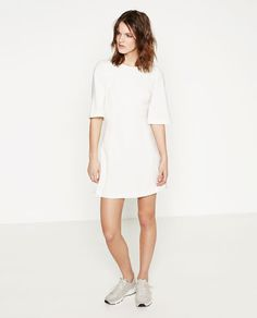 Image 1 of DRESS WITH CAPE SLEEVES from Zara