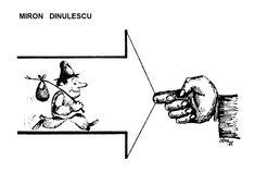 Caricatura de MIRON DINULESCU, publicata in almanahul PERPETUUM COMIC '97 editat de URZICA, revista de satira si umor din Romania