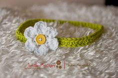 Daisy headband, newborn size - make one for my new little cutie