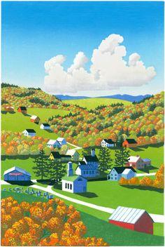 """Leaf Light"" - Sabra Field, Printmaker"