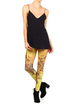 Honeybee Leggings. Shop now at POPRAGEOUS.com!