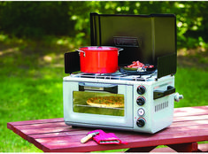 Coleman Outdoor Oven Stove: gotta have it for your treehouse or RV camping! Coleman Outdoor Oven Stove: gotta have it for your treehouse or RV camping! Camping Glamping, Camping Hacks, Camping Gear, Luxury Camping, Camping Supplies, Camping Guide, Camping Essentials, Camping Gadgets, Beach Camping