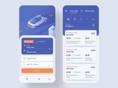 Bus, Car, Flight Book App by Raf Redwan for Crunchy on Dribbble Web Design Mobile, Web Mobile, Mobile App Ui, App Ui Design, Interface Design, Flat Design, User Interface, Flight App, Bus App