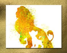 Disney Poster Lion King Print Simba Print by sashinistory on Etsy