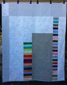 Back of CHALK ART throw quilt