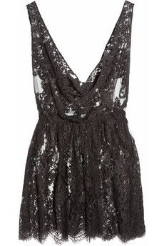Rosamosario - The Kate Moss Mini Chantilly lace chemise Chantilly Lace, Short Lace Dress, Kate Moss, Dress Me Up, Dress To Impress, Lace Shorts, Fashion Beauty, Ladies Fashion, Ideias Fashion